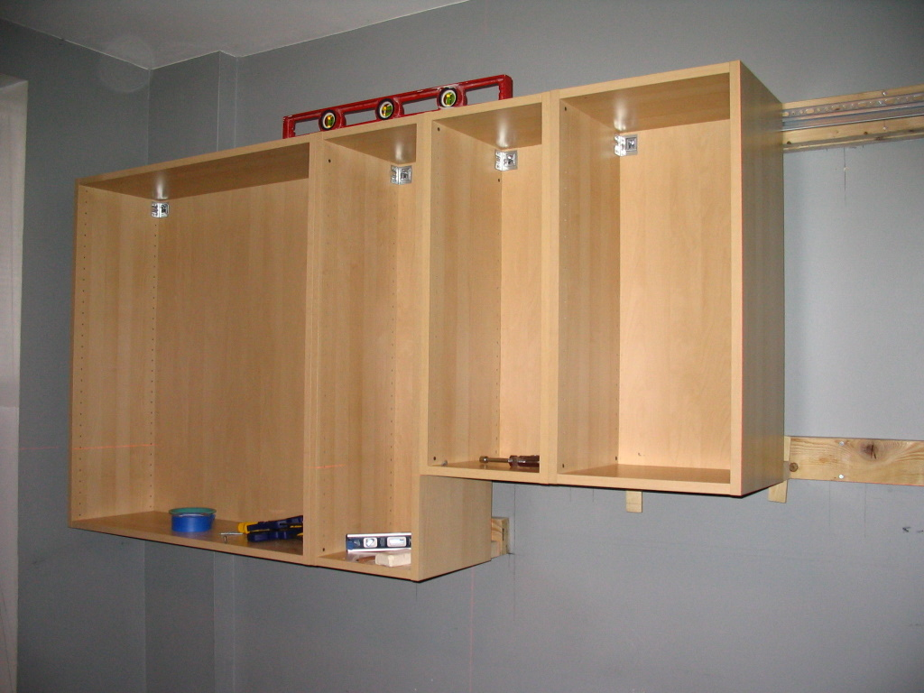 Hanging The Cabinets