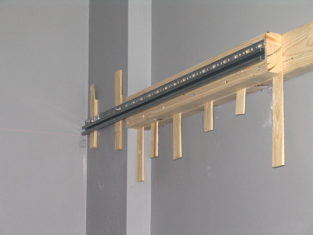 Charmant Hanging Rail U0026 Shimmed Boards